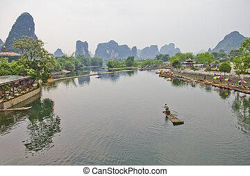 li, rivier, china
