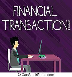 liabilities, 資産, 仕事, モデル, テキスト, 提示, トランザクション, 印, まっすぐに, コンピュータ, 本, 写真, 概念, ビジネスマン, 椅子, テーブル。, transaction.