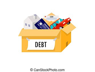 Liabilities arising from home, cars, credit cards are all in...