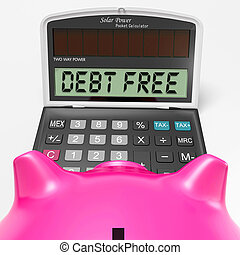 liabilities, medios, calculadora, deudas, libre, no, deuda, o