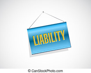 liability hanging banner illustration design