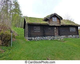 Liabygdstova at Sunnmoere Museum, Aalesund, Norway
