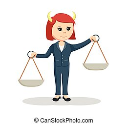 liar female lawyer illustration design