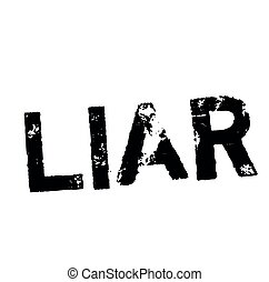 LIAR stamp on white. Stamps and advertisement labels series.