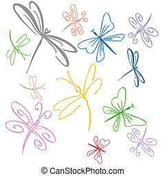 libélula, conjunto