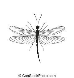 libélula, en vuelo