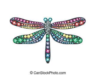 libélula, gema
