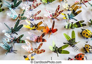 libélula, hechaa mano