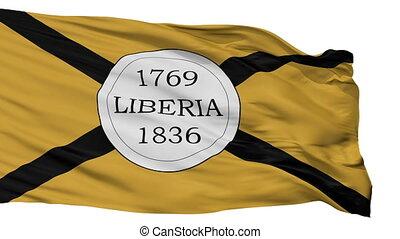 libéria, ville, drapeau, isolé, costa rica