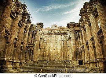 libanon, baalbek, oud, roman temple