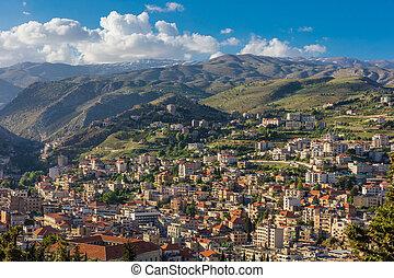 libanon, beeka, cityscape, zahle, skyline