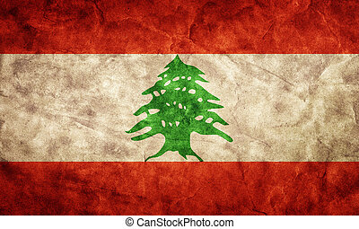 libanon, grunge, flag., artikel, van, mijn, ouderwetse ,...