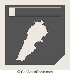 libanon, kaart, knoop