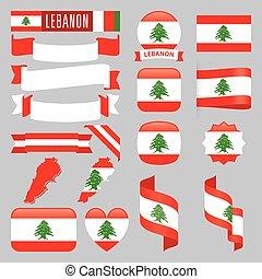 libanon, vlaggen
