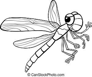 libellula, insetto, coloritura, pagina