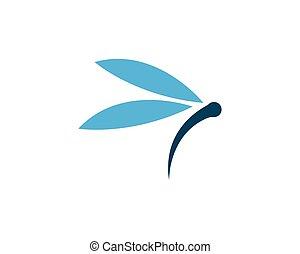 libellule, logo, gabarit