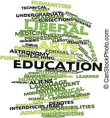 liberaal, kunsten, opleiding