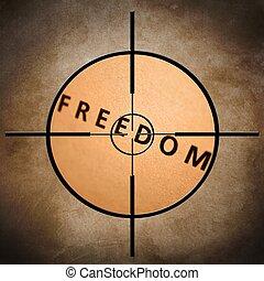 liberdade, alvo