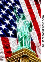 liberdade, americano, abstratos