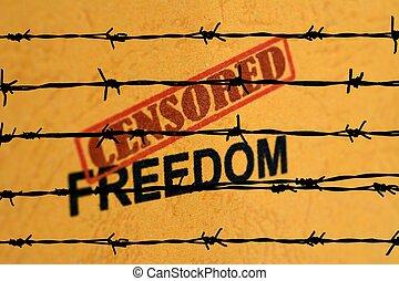 liberdade, censurado