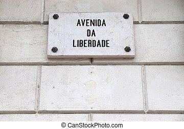 liberdade, -, da, avenida, lisboa