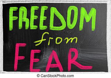 liberdade, medo