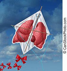 liberdade, pulmões