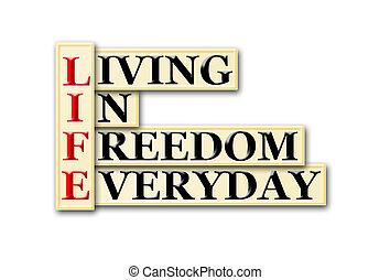 liberdade, vida