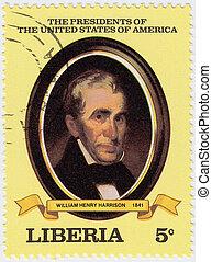 LIBERIA - CIRCA 2000 : stamp printed in Liberia shows 9th...