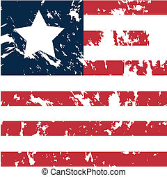 Liberia - dirty liberia flag background