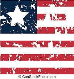 Liberia - dirty liberia flag background