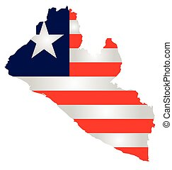 Liberia Flag - Flag of the Republic of Liberia overlaid on ...
