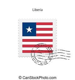 Liberia Flag Postage Stamp. - Liberia Flag Postage Stamp on...
