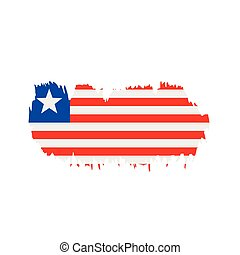 Liberia flag, vector illustration