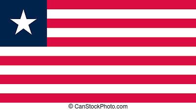 liberia, nazionale, ufficiale, bandiera, colori