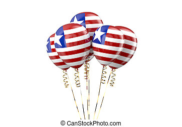 Liberia patriotic balloons,  holyday concept