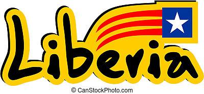 Liberia sticker - Creative desinf of liberia sticker
