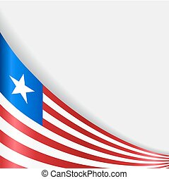 Liberian flag background. Vector illustration.