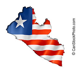 Liberian flag map - Liberia flag map, three dimensional ...