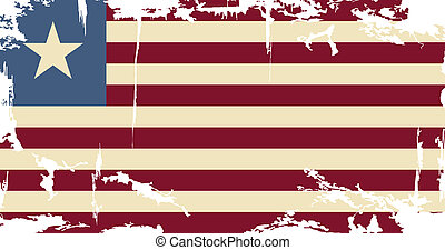 Liberian grunge flag. Vector illustration