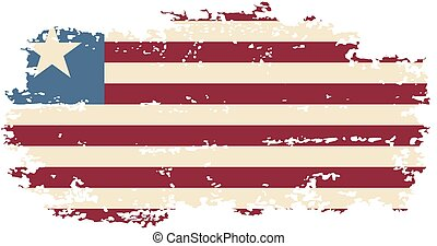 Liberian grunge flag. Vector illustration.