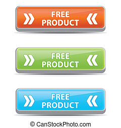 libero, buttons., prodotto