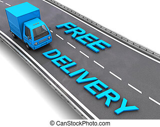 libero, consegna, segno