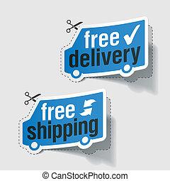 libero, etichette, consegna, spedizione marittima
