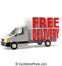 libero, furgone consegna