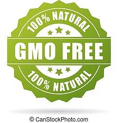 libero, naturale, prodotto, icona, gmo