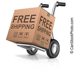 libero, spedizione marittima, carboard, scatola