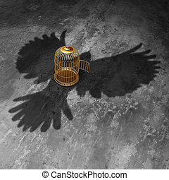liberté, cage