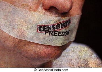 liberté, censuré