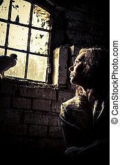liberté, femme, rêves, psychiatrique, prison